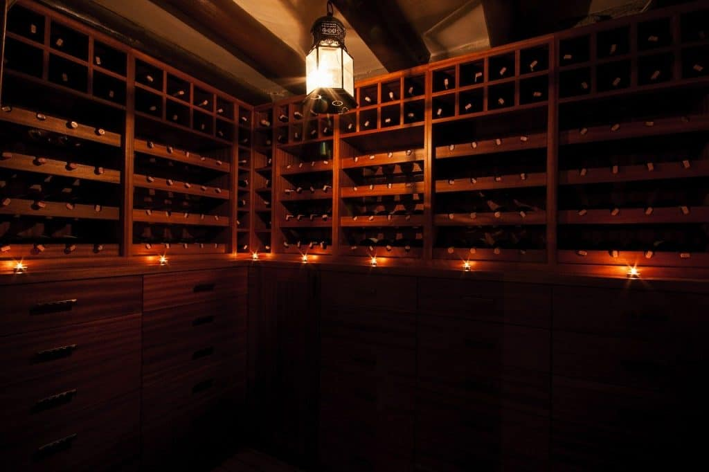 How to build a wine storage facility- no one, wine, dark