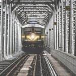 train, bridge, transportation
