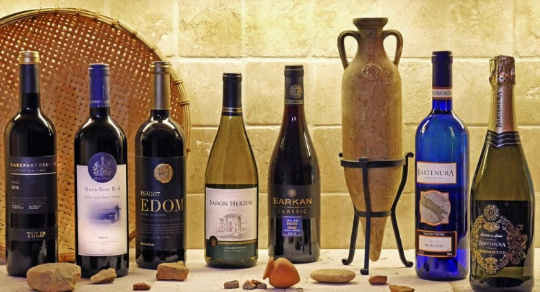 a selection of Kosher wine