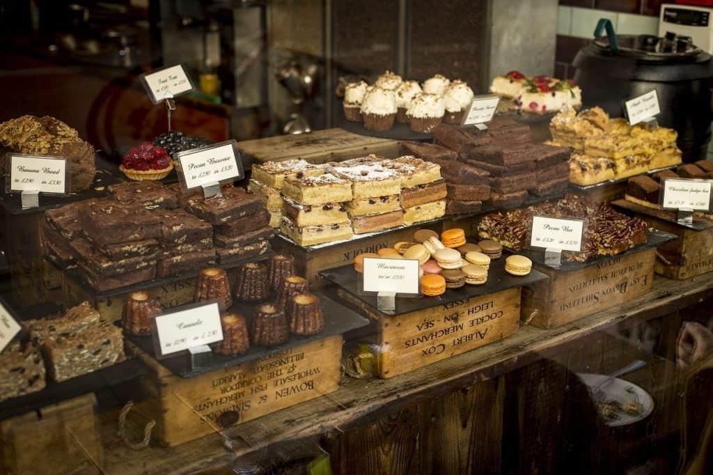desserts, food, pastries