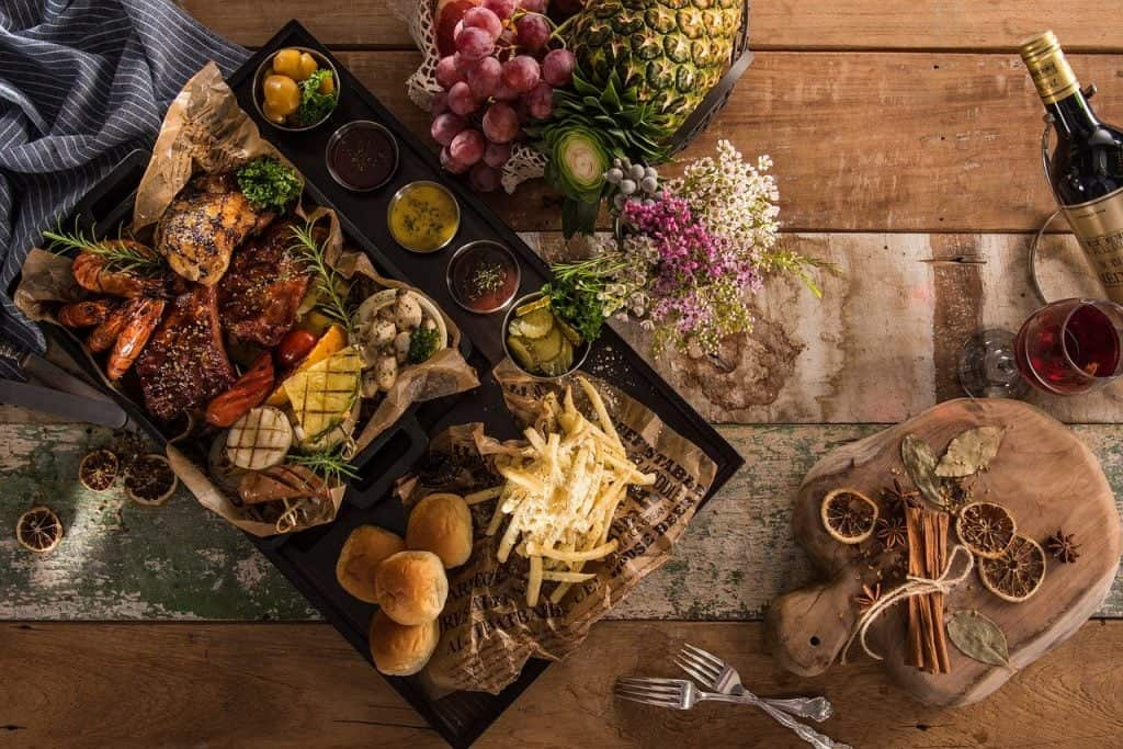 platter, food, delicious food
