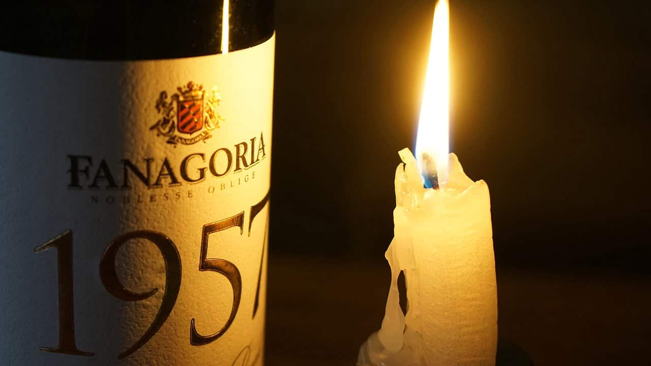wine, candle, glass