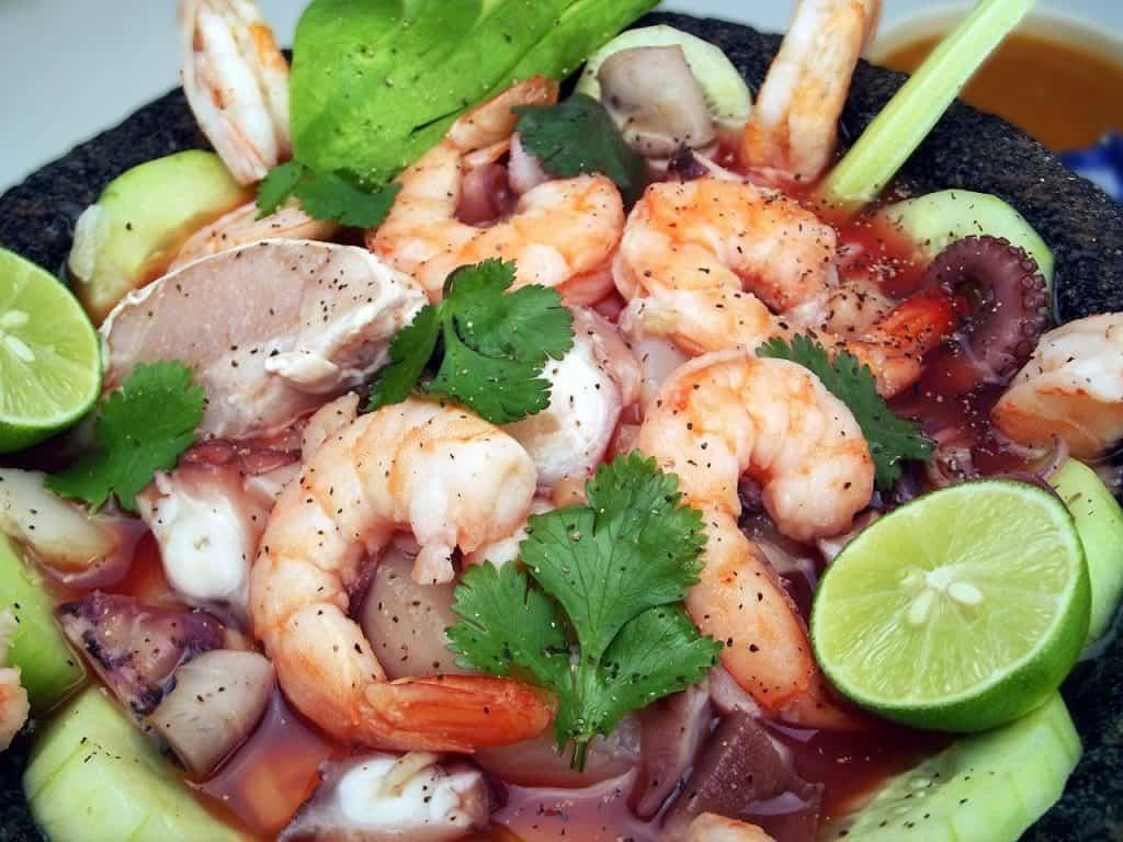 shrimp, seafood, food