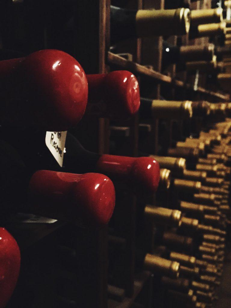 the wine cellar floor